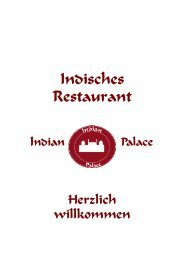 Indisches Restaurant - Indian Palace