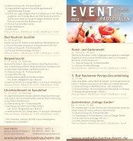 Event Flyer - Hotel Arabella - Bad Nauheim