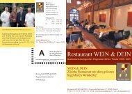 Restaurant WEIN & DEIN