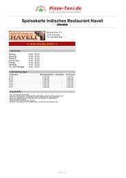 Indisches Restaurant Haveli in 22147 Hamburg ... - Pizza Taxi