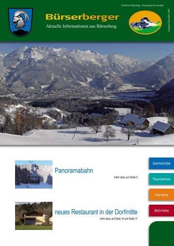 Panoramabahn neues Restaurant in der Dorfmitte - Gemeinde ...