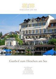 Banquet documentation - Gasthof Hirschen