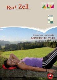 ANGEBOTE 2013 - Tourismusverband Bad Zell