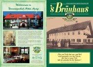 Willkommen im Brauereigasthof Hotel Aying - Ayinger Bierkultur pur