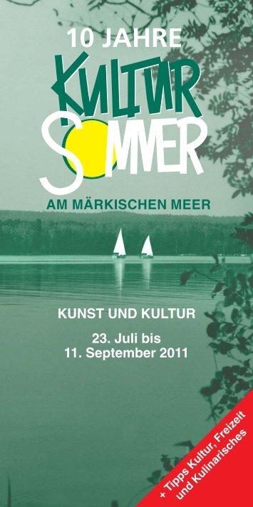 Programm Kultursommer 2011 Bad Saarow (PDF) - Landhaus-Blog ...