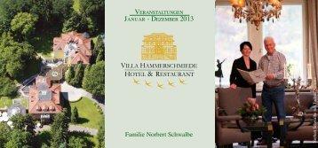 Veranstaltungskalender 2013 - Villa Hammerschmiede