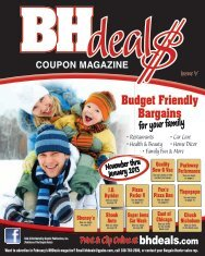 2 BHdeals Coupon Magazine - Graphic Publications Inc.