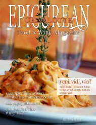 March/April 2010 - Epicurean Charlotte Food & Wine Magazine