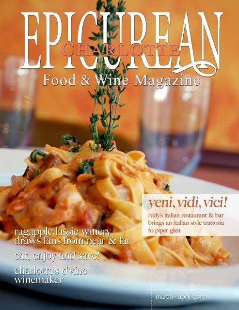 March/April 2010 - Epicurean Charlotte Food & Wine Magazine