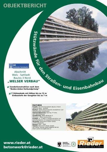 OBJEKTBERICHT - Betonwerk Rieder