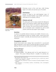 Distribution Climate and soil Varieties Propagation material Agro ...
