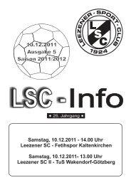 LSC-Info 2011-2012 Ausgabe 5 - Leezener SC
