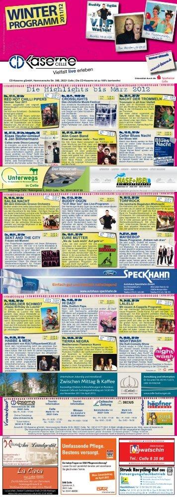 CD-Kaserne Winterprogramm 2011/2012 - CelleHeute