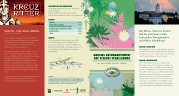grosses naturgartenfest auf schloss schallaburg - Natur im Garten