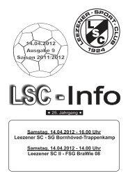 LSC-Info 2011-2012 Ausgabe 9 - Leezener SC