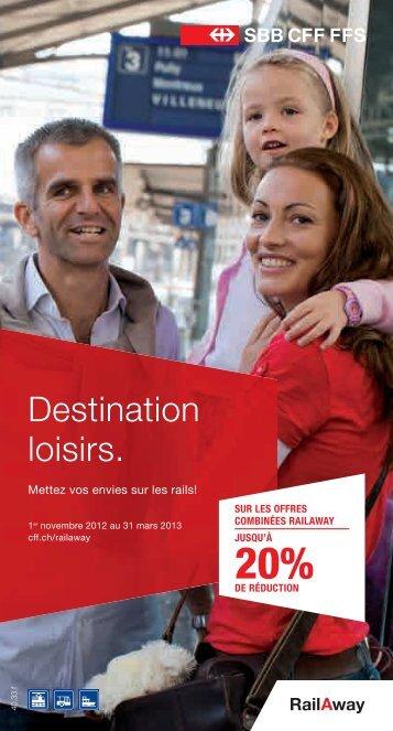 Destination loisirs. - CFF