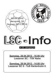 LSC-Info 2011-2012 Ausgabe 10 - Leezener SC