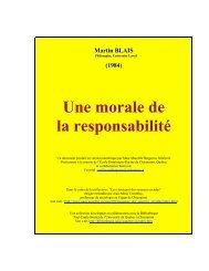 Une morale de la responsabilité - Doctrine sociale de l'Eglise