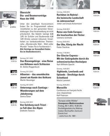 Umschlag 2012-2013.indd - Volkshochschule Waltrop