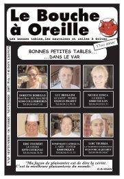 BONNES PETITES TABLES... - Le Bouche à Oreille