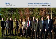 Dynamisme et passion pour Versoix - Parti Radical de Versoix
