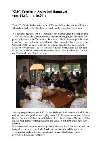 KMC Treffen in Seelze bei Hannover vom 14.10. - 16.10.2011