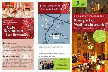 Restaurant - Burg Hohenzollern EN