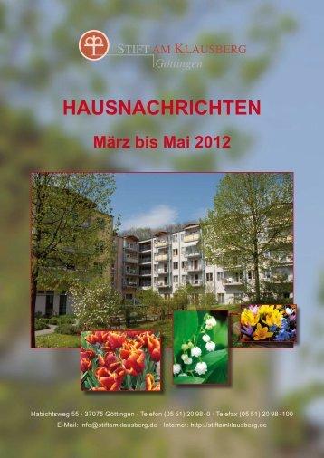 März - Mai 2012 - Stift am Klausberg