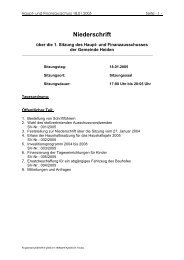 18.01.2005 Niederschrift HFA - in der Gemeinde Heiden
