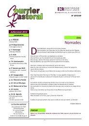 Courrier pastoral été 2012 - Eglise catholique romaine de Genève
