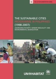 the sustainable cities programme in philippines (1998 ... - UN-Habitat