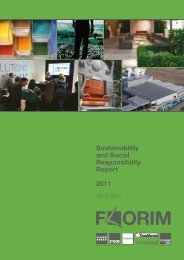 Sustainability and Social Responsibility Report 2011 - Gruppo Florim