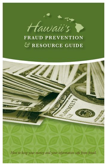 Hawaii's Fraud Prevention & Resource Guide - Hawaii.gov