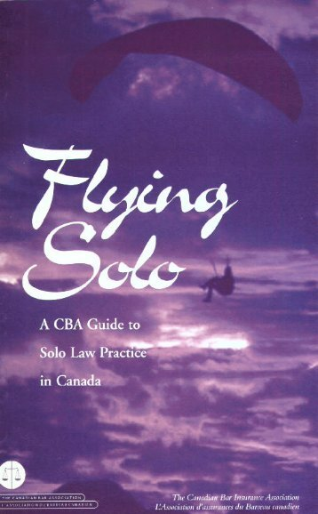 Flying Solo - CBA.org