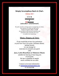 Simply Scrumptious Rent-A-Chef® L i v e  Music, Singers, & Trio's ...