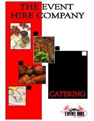Gourmet BBQ Menu - the event hire company