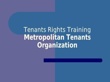 Tenants Rights Training Chicago Department of ... - Lead Safe Illinois