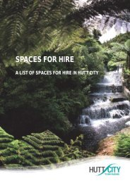 SPACES FOR HIRE - Hutt City Council