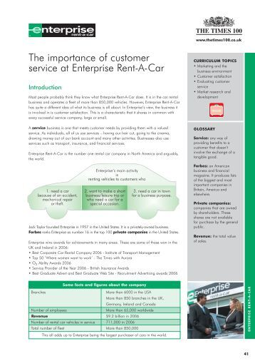 enterprise rent a car measuring service quality Given that enterprise is the largest car rental company in the world, this is not too surprising, but it is interesting to note that enterprise holdings' other brands, national and alamo come in at second and third which suggests a strong focus on social media for the holding company.