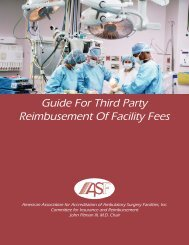 Guide For Third Party Reimbusement Of Facility Fees - aaaasf