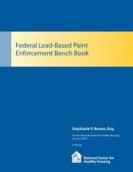 B. Federal Lead-Based Paint Enforcement Bench Book - National ...