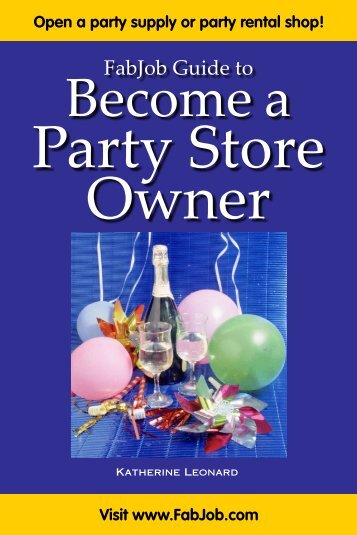 Party Store Owner - Fabjob.com