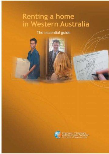 Renting a home in Western Australia - Unilife