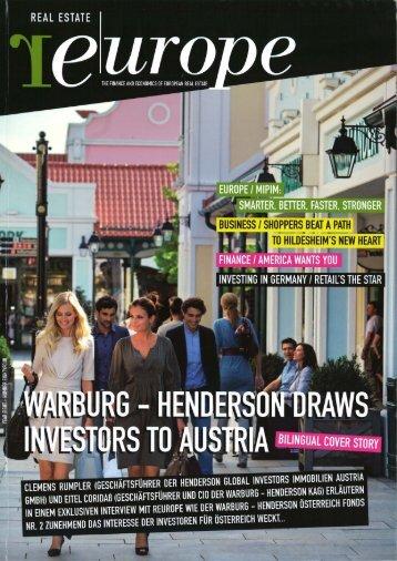 mehr... - Warburg - Henderson Kapitalanlagegesellschaft für ...