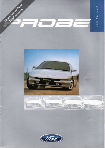 Ford Probe Edition 2 Sales Brochure October 1996