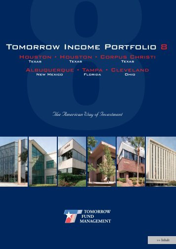 8Tomorrow Income Portfolio 8 - Tomorrow Fund Management
