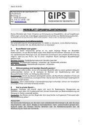 Merkblatt - Bundesverband der Gipsindustrie eV