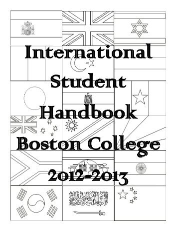 2012-2013 International Student Handbook - Boston College