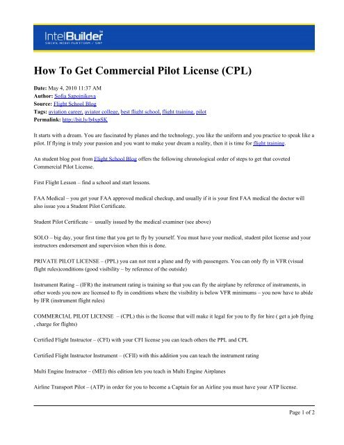 How To Get Commercial Pilot License (CPL) - Aviator Flight