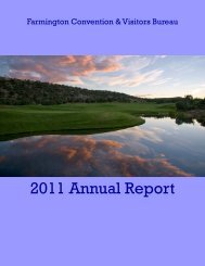 2011 Annual Report - Farmington Convention & Visitors Bureau